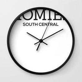 Homie South Central - My Homies Wall Clock