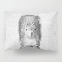 Squirrel - Black & White Pillow Sham