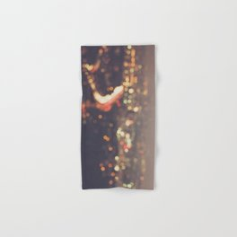 Los Angeles cityscape at night. Abstract Mulholland Hand & Bath Towel