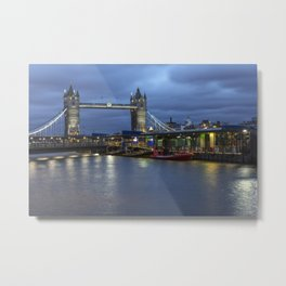 Tower Bridge in London, UK  Metal Print