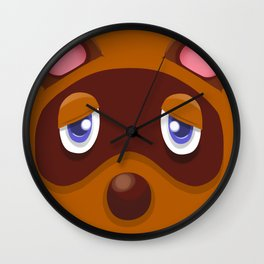 Animal Crossing Tom Nook Wall Clock