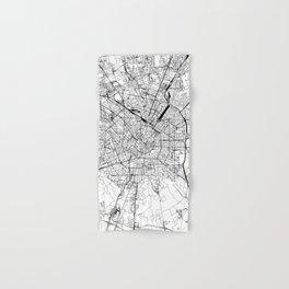 Milan White Map Hand & Bath Towel