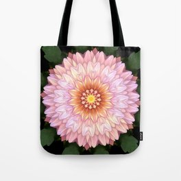 Abstract Zinnia Pink Tote Bag