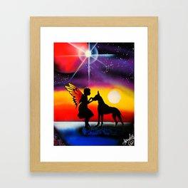 For the Love of a Great Dane Framed Art Print
