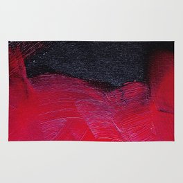 Red oil Rug
