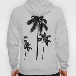 Monochrome tropical palms Hoody