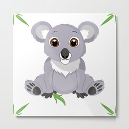 Cute Little Koala Bear Metal Print