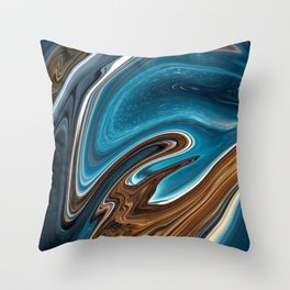 Starlit Night abstract Throw Pillow