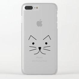 Cat Face Clear iPhone Case