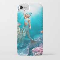 the little mermaid iPhone & iPod Cases featuring Little Mermaid by Simone Gatterwe