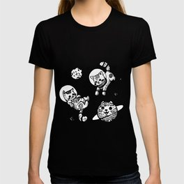 Kitty Cats Flying in Space - Kittens T-shirt