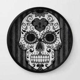 Día de los Muertos - Grey Wall Clock