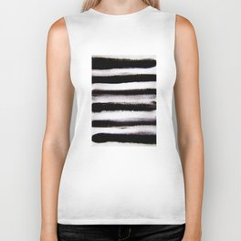 black and white Biker Tank