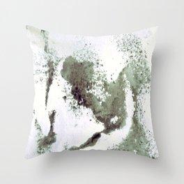 sponging ink Throw Pillow
