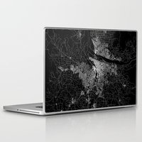 portland Laptop & iPad Skins featuring portland map by Line Line Lines
