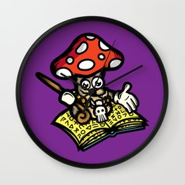 Magic Mushroom Wall Clock