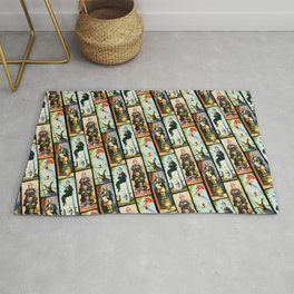 Haunted Mansion Stretch Paintings Rug