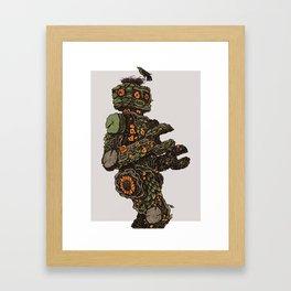 Floral Robot Framed Art Print