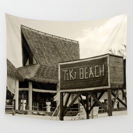Travel Photography : Tiki Beach in Cayman Islands Wall Tapestry