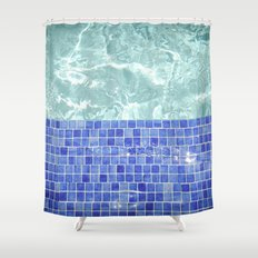 Pool Days Shower Curtain