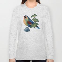 Ginkgo Bird Long Sleeve T-shirt