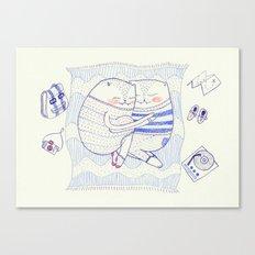 l'amour cat Canvas Print