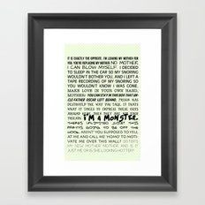 Various Buster Bluth Quotes Framed Art Print