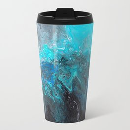 Black and Blue Travel Mug
