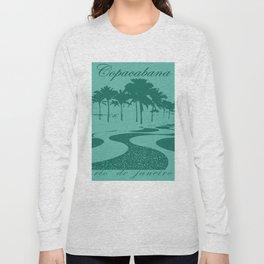Copacabana beach, green Long Sleeve T-shirt