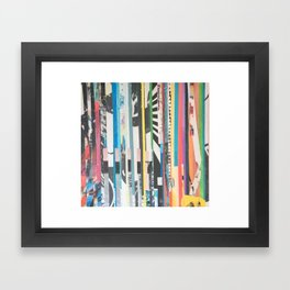 STRIPES 40 Framed Art Print