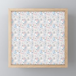 Retro , polka dot Framed Mini Art Print