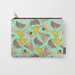 """""""Oro?"""" Ice Creams Turquoise Carry-All Pouch"""