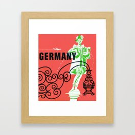 Vintage Germany Airline Travel Framed Art Print