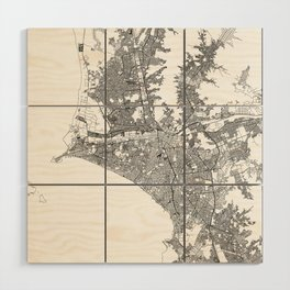 Lima White Map Wood Wall Art