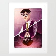 Prof. Plum Art Print