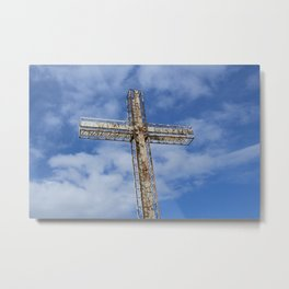 cross in the sky Metal Print