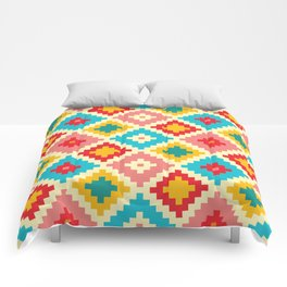 Candy Colored Tile Pattern Comforters