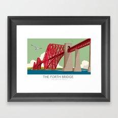 Forth Rail Bridge - Railway poster Framed Art Print