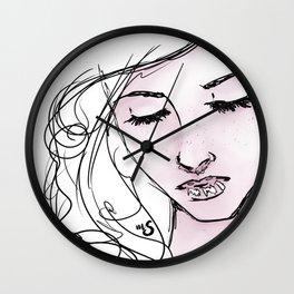 Girl Portrait Wall Clock