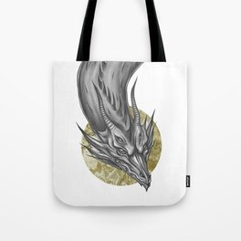 Silver Dragon Tote Bag