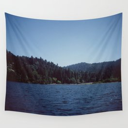 Southern California Lake Day Wall Tapestry