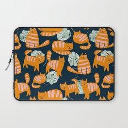 Whimsicat #illustration #animalprint #pattern Laptop Sleeve