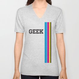 Design Geek (CMYK) Unisex V-Neck