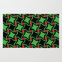 Twisted squares Rug