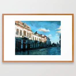 Side Street Framed Art Print