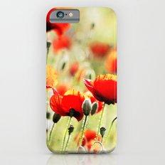 Poppy field iPhone 6s Slim Case