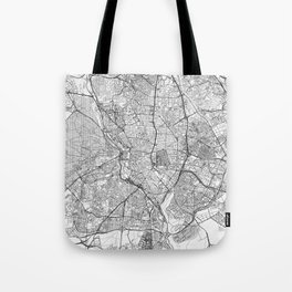 Madrid Map Line Tote Bag