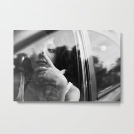 portrait through the car window Metal Print