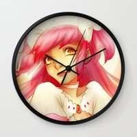 madoka magica Wall Clocks featuring Eternal Madoka by TheEmpa