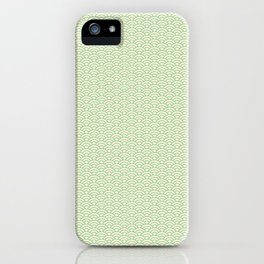 Japanese Wave Pattern in Yellow & Green iPhone Case